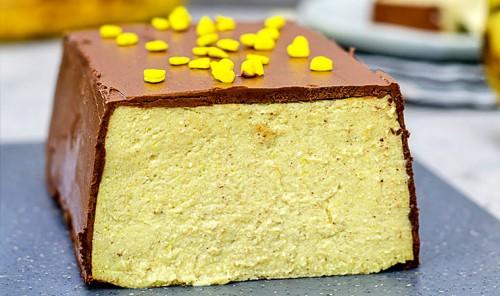 Творожно-банановый чизкейк в шоколаде