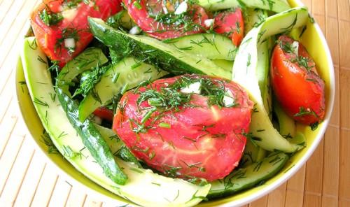 Хрустящие малосольные овощи в пакете
