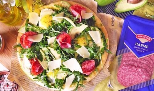 Пицца-салат за 15 минут