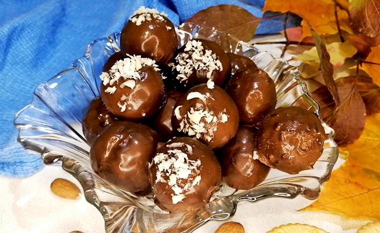 Тыквенные конфеты в шоколадной помадке
