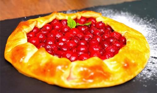Творожная галета с ягодами