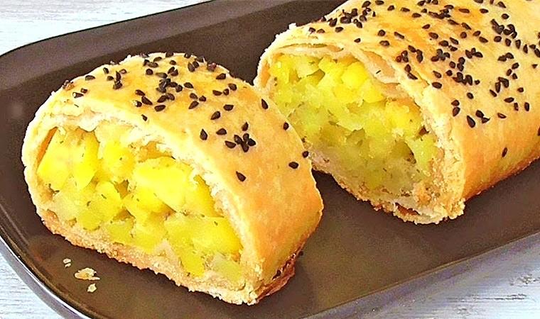 Рулет с картофелем в духовке (Штрудель)