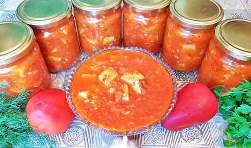Кабачки в томатном соусе на зиму