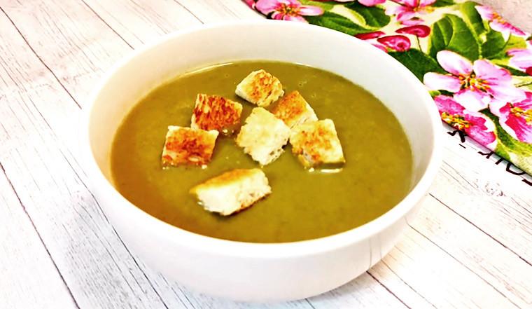 Крем-суп из шпината с плавленным сыром