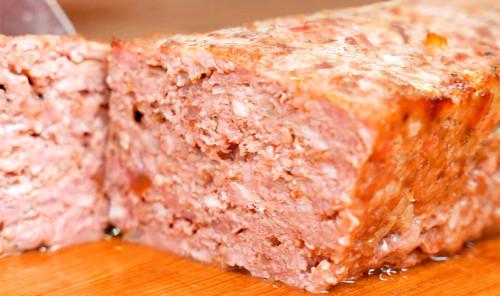 Мясной хлеб из фарша