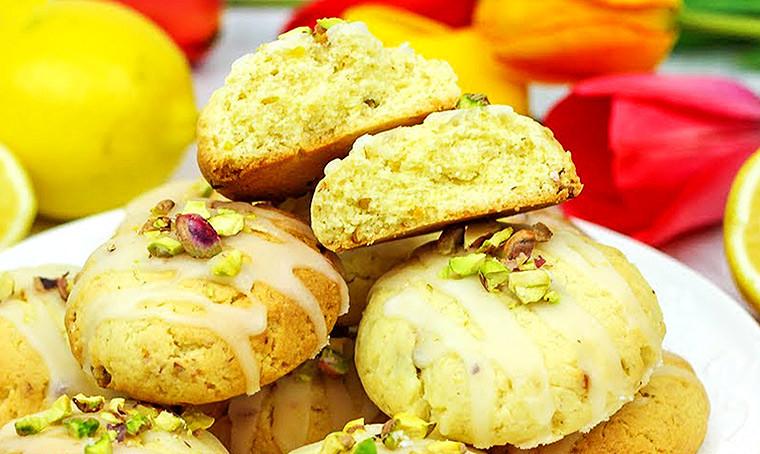 Лимонное печенье с фисташками