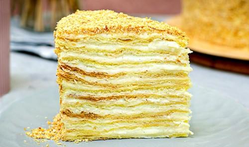 Торт с заварным кремом «Наполеон»