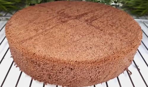 Шоколадный бисквит без соды и разрыхлителя