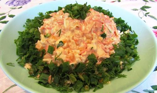 Салат с копченым сыром и морковью по-корейски