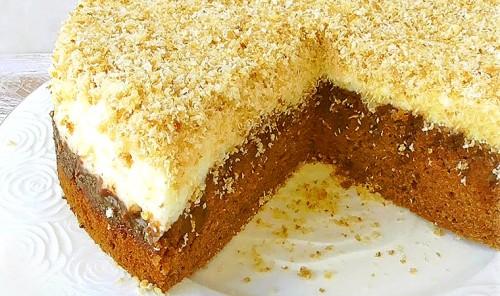 Шоколадный торт с кокосовой стружкой «Опилки»