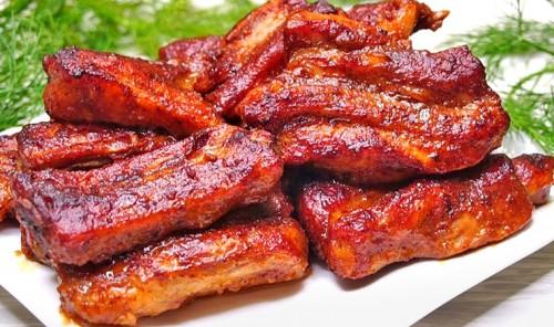 Свиные рёбрышки в духовке по-канадски