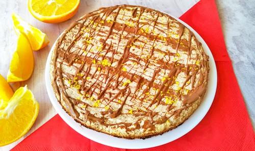 Торт безе с орехами и крекером
