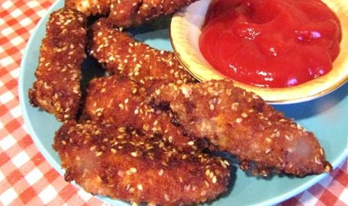 Хрустящие куриные палочки в кефирном маринаде