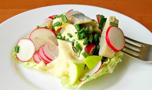 Салат с сельдью «Норвежский»