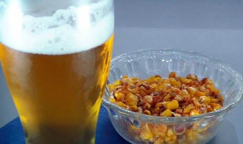 Соленая кукуруза к пиву