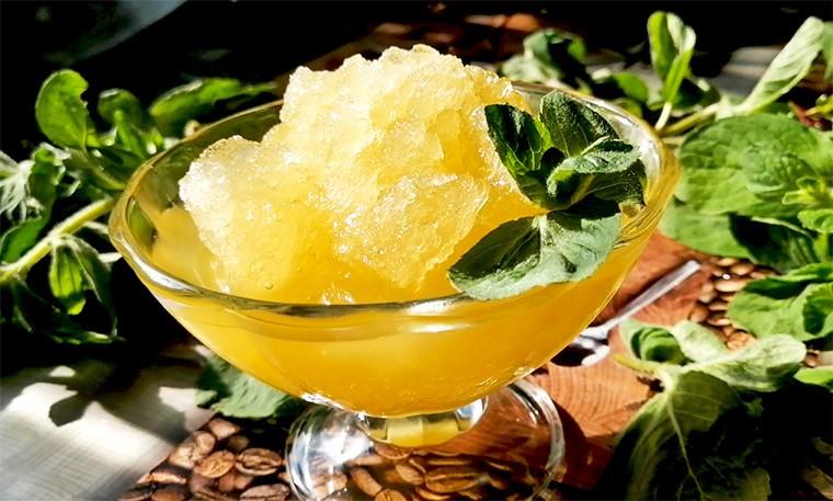 Гранита с апельсиновым и лимонным соком