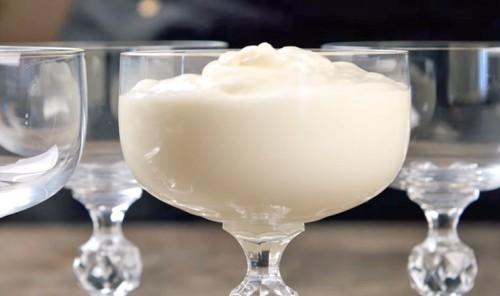 Десерт из сметаны и желатина