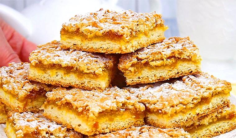 Венское песочное печенье с джемом (тертый пирог)