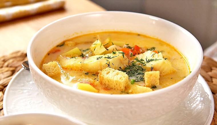 Рыбный суп в норвежском стиле