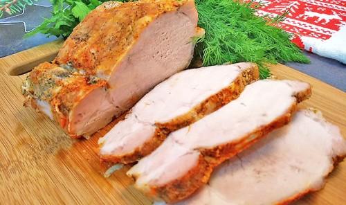 Свиная корейка, запеченная в фольге