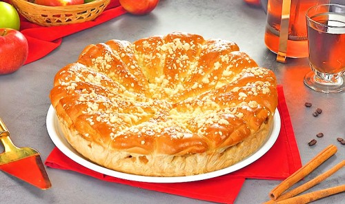 Яблочный пирог «Рожки»