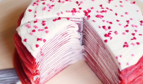 Блинный торт «Красный бархат»