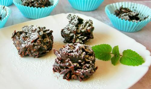 Конфеты из кукурузных хлопьев и шоколада
