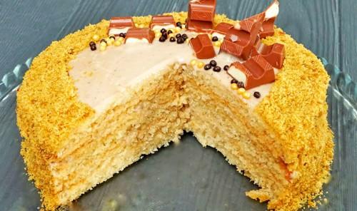 Рисовый торт с банановым кремом