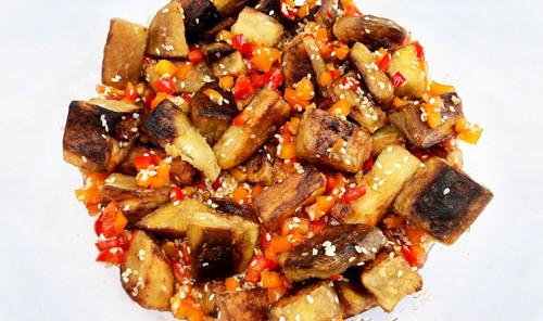 Салат с баклажанами и болгарским перцем