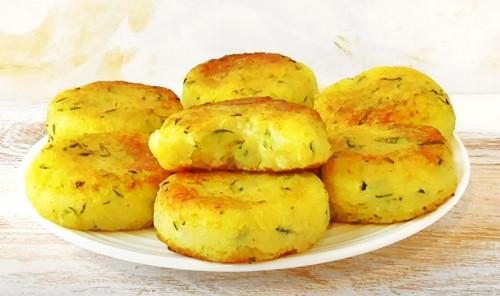 Котлеты из картофеля и кабачков