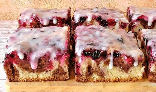 Польский пирог с ягодами