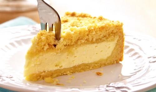 Тертый творожный пирог