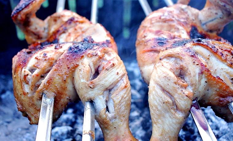 Курица по-тайски на углях