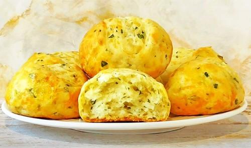 Творожные булочки с сыром и зеленью