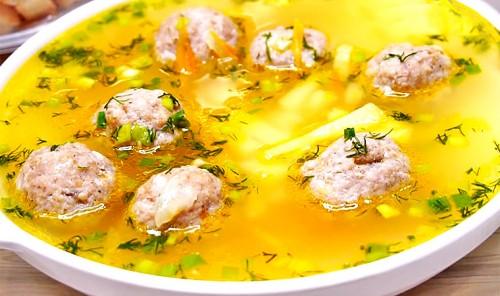 Классический суп с фрикадельками