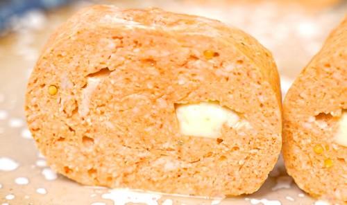 Рулет из куриного филе с сыром на сковороде
