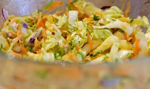 Легкий салат для худеющих