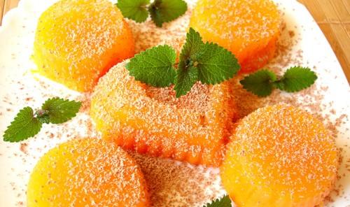 Десерт из тыквы и апельсинового сока