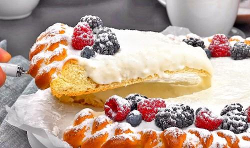 Пирог-косичка с нежным кремом