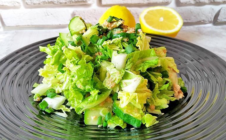 Салат с тунцом и пекинской капустой