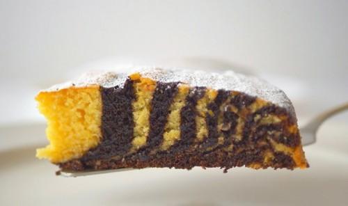 Постный пирог «Зебра»