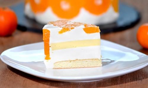 Мандариновый муссовый торт