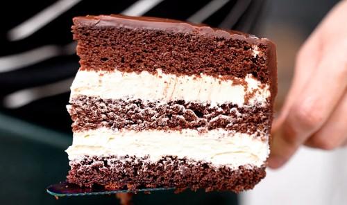 Шоколадный торт с кремом Пломбир