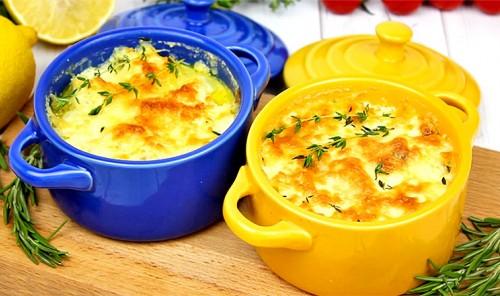 Филе трески под сливками и сыром в духовке