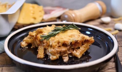 Макароны в пиве запеченные с сыром в духовке