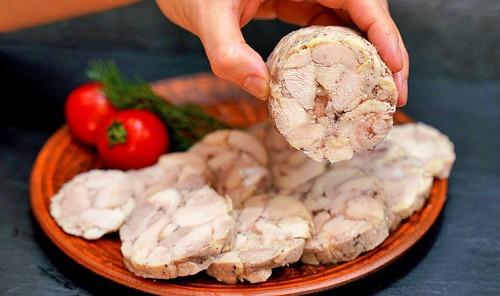 Куриная колбаса домашняя (99% мяса)