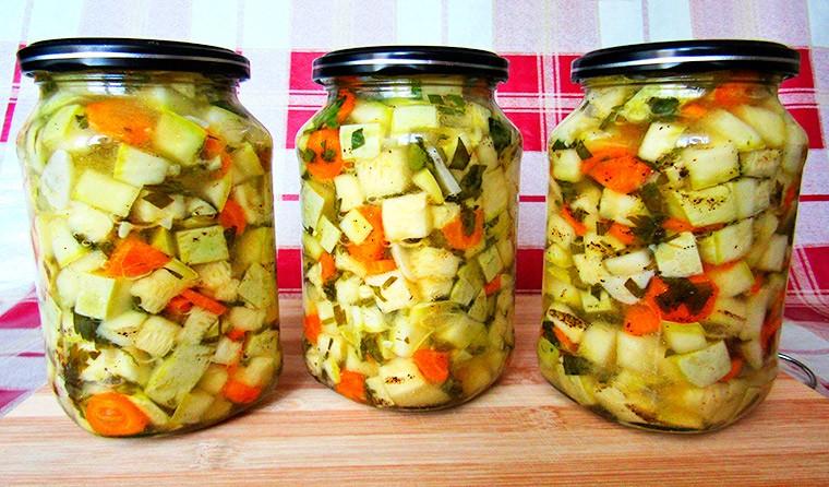 Салат из кабачков на зиму (Кабачки как грибы)