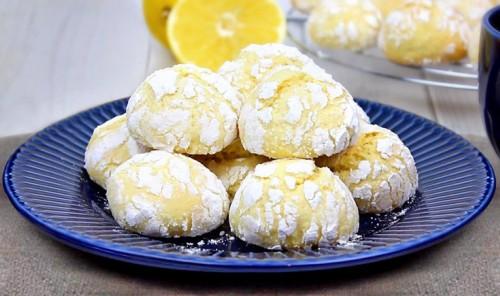 Лимонное печенье с трещинками
