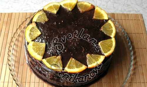 Торт «Бразилия» с апельсиновым конфи