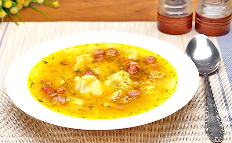 Гороховый суп с охотничьими колбасками